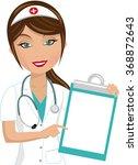 beautiful smiling nurse...   Shutterstock .eps vector #368872643