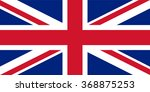 union jack  vector image of... | Shutterstock .eps vector #368875253