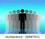 concept of social network.... | Shutterstock . vector #36887611