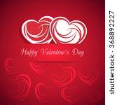 heart. happy valentine's day.... | Shutterstock .eps vector #368892227