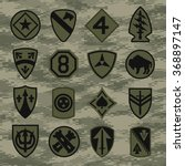 military unit patch insignia... | Shutterstock .eps vector #368897147