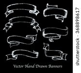vector hand drawn banners set.... | Shutterstock .eps vector #368898617