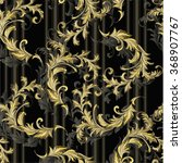 baroque pattern with gold... | Shutterstock .eps vector #368907767