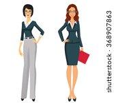 beautiful young women in... | Shutterstock .eps vector #368907863