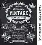 hand drawn blackboard banner... | Shutterstock .eps vector #368915957