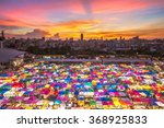multi colored tents  sales of... | Shutterstock . vector #368925833