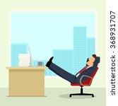 simple cartoon of a businessman ...   Shutterstock . vector #368931707