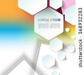 hexagon shapes elements... | Shutterstock .eps vector #368932283
