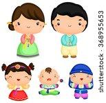 korean family | Shutterstock .eps vector #368955653