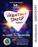 vector night party valentine's... | Shutterstock .eps vector #368959397