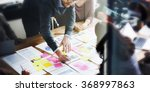 business people planning... | Shutterstock . vector #368997863