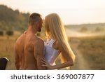 man and woman embrace tenderly... | Shutterstock . vector #369007877