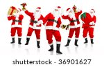 happy christmas santa. isolated ... | Shutterstock . vector #36901627