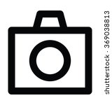 Camera Bold Line Vector Icon