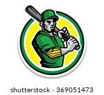 baseball athlete sportsman... | Shutterstock .eps vector #369051473