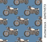 seamless pattern with motorbike | Shutterstock .eps vector #369074573