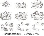 pixel art explosion animation... | Shutterstock .eps vector #369078743