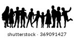 vector silhouettes of children... | Shutterstock .eps vector #369091427
