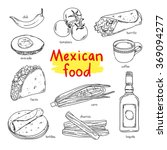 mexican food. national dishes... | Shutterstock .eps vector #369094277