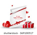 valentine's greeting card... | Shutterstock . vector #369100517