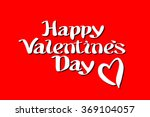 happy valentines day... | Shutterstock . vector #369104057