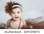 Smiling Baby Ballerina In Brow...