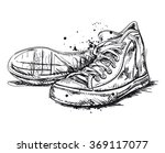 hand drawn sneakers isolated  ... | Shutterstock .eps vector #369117077