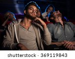 young people watching a boring... | Shutterstock . vector #369119843