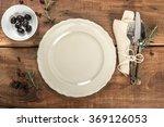 rustic old wooden mediterranean ... | Shutterstock . vector #369126053