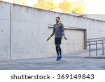 man exercising with jump rope... | Shutterstock . vector #369149843