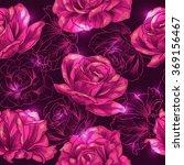 shining pink roses .vector... | Shutterstock .eps vector #369156467