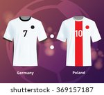 soccer t shirts of germany and... | Shutterstock .eps vector #369157187