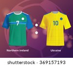 soccer t shirts of northern... | Shutterstock .eps vector #369157193