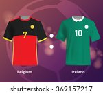 soccer t shirts of belgium and... | Shutterstock .eps vector #369157217