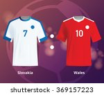soccer t shirts of slovakia and ... | Shutterstock .eps vector #369157223