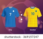 soccer t shirts of italy and... | Shutterstock .eps vector #369157247