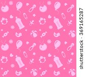 pink pattern for a newborn with ... | Shutterstock .eps vector #369165287
