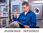 engineer wrote the experimental ... | Shutterstock . vector #369165623