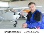 aircraft maintenance | Shutterstock . vector #369166643