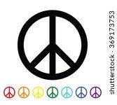 peace symbol. rainbow colors.... | Shutterstock .eps vector #369173753
