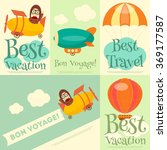 set of travel posters with air... | Shutterstock .eps vector #369177587