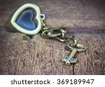 Metal Key And Metal Heart Key...