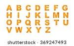 alphabet from abstract golden... | Shutterstock . vector #369247493