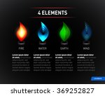 colorful nature elements. water ... | Shutterstock .eps vector #369252827