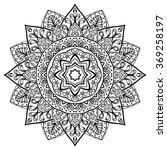 ethnic mandala on a white... | Shutterstock .eps vector #369258197