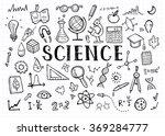 science doodles on white grid... | Shutterstock .eps vector #369284777