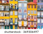 ribeira  the old town of porto  ... | Shutterstock . vector #369306497