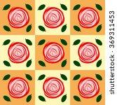 vintage roses back pattern pop... | Shutterstock .eps vector #369311453