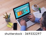 man working on laptop with user ... | Shutterstock . vector #369332297