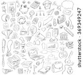 hand drawn business doodles | Shutterstock .eps vector #369349247